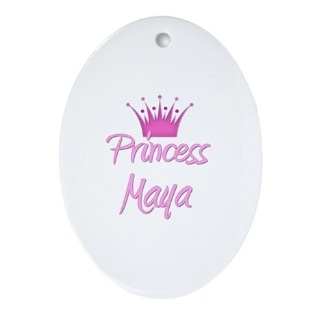 Princess Maya Oval Ornament