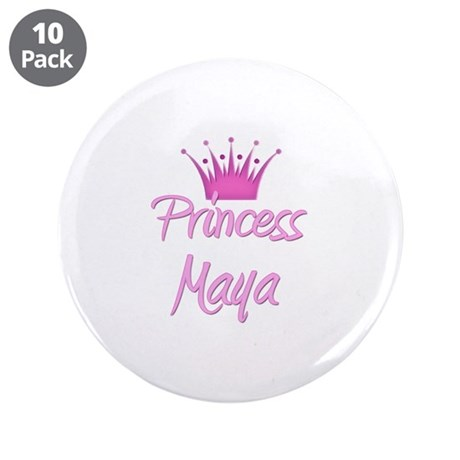 "Princess Maya 3.5"" Button (10 pack)"