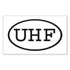 UHF Oval Rectangle Sticker 10 pk)