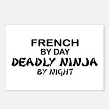French Deadly Ninja by Night Postcards (Package of