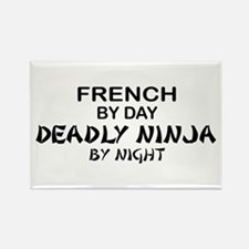 French Deadly Ninja by Night Rectangle Magnet