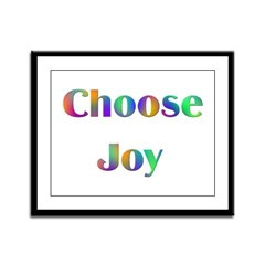 Choose Joy Design #752 Framed Panel Print
