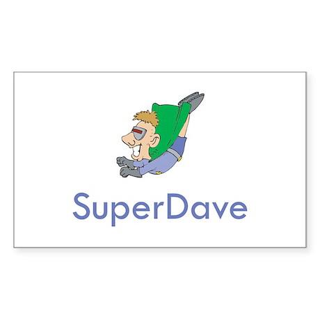 SuperDave Rectangle Sticker