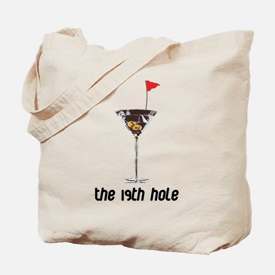 the 19h hole Tote Bag