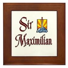 Sir Maximilian Framed Tile