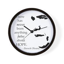 Obama is Hope Wall Clock