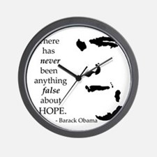 Obama is Hope Wall Clock