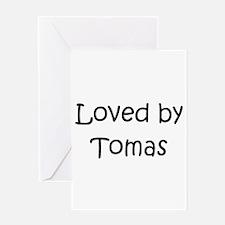 Unique Tomas Greeting Card