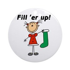 Fill 'er Up Holiday Ornament (Round)