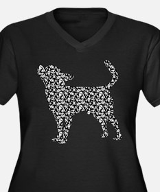 Chihuahua Smoothcoated Women's Plus Size V-Neck Da