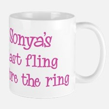 Sonyas last fling Mug