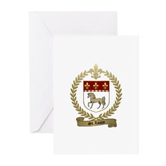 ST. LOUIS Family Crest Greeting Cards (Package of