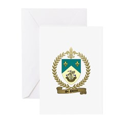 ST. PIERRE Family Crest Greeting Cards (Package of