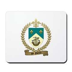 ST. PIERRE Family Crest Mousepad