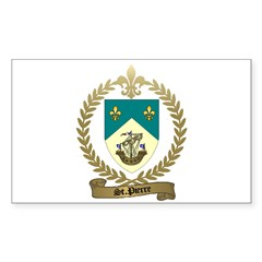 ST. PIERRE Family Crest Rectangle Decal