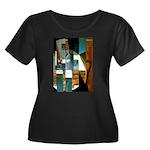 Siphon Women's Plus Size Scoop Neck Dark T-Shirt