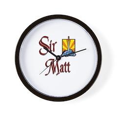 Sir Matt Wall Clock