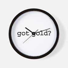 got gold? Wall Clock