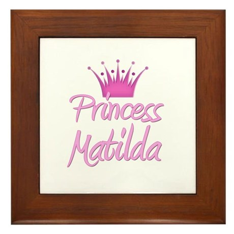 Princess Matilda Framed Tile