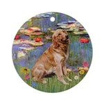 Monet's Lilies Golden Retriever Keepsake (Round)