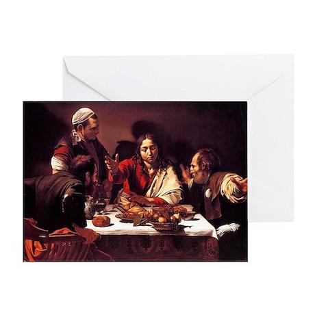 Supper at Emmaus Greeting Card