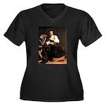 St. Catherine Women's Plus Size V-Neck Dark T-Shir