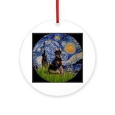 Starry Night Min Pin Keepsake (Round)