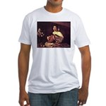 Lute Player Fitted T-Shirt