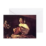 Lute Player Greeting Cards (Pk of 10)