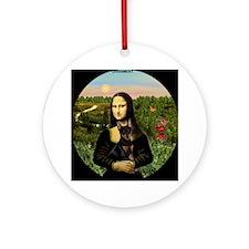 Mona Lisa's Min Pin Keepsake (Round)