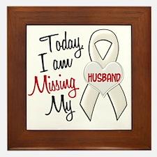 Missing My Husband 1 PEARL Framed Tile