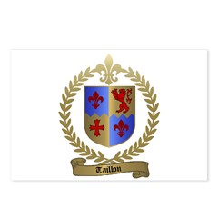 TAILLON Family Crest Postcards (Package of 8)