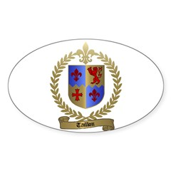 TAILLON Family Crest Oval Decal