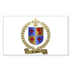 TAILLON Family Crest Rectangle Decal