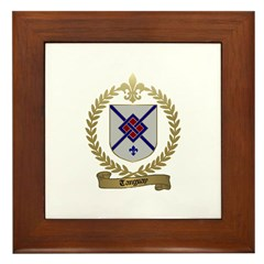 TANGUAY Family Crest Framed Tile