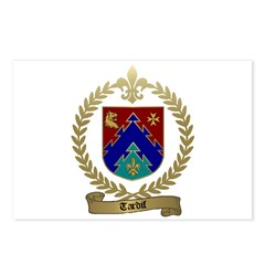 TARDIF Family Crest Postcards (Package of 8)