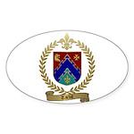TARDIF Family Crest Oval Sticker