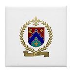 TARDIF Family Crest Tile Coaster