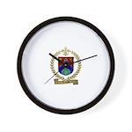 TARDIF Family Crest Wall Clock