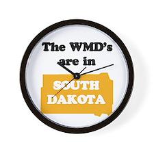 WMDs are in South Dakota Wall Clock