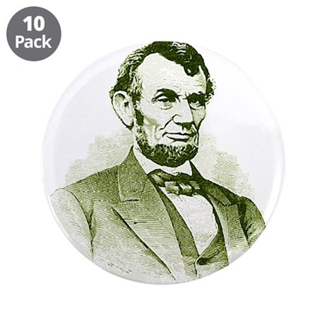 """Abe Lincoln 3.5"""" Button (10 pack)"""