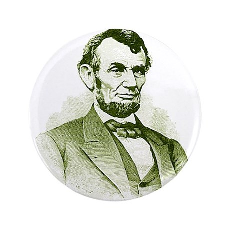 "Abe Lincoln 3.5"" Button"
