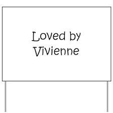 Cute Vivienne Yard Sign