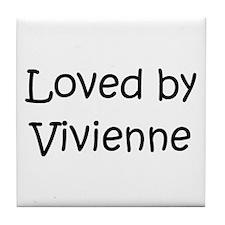 Cool Vivienne Tile Coaster