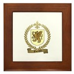 THERRIEN Family Crest Framed Tile