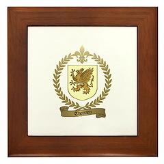 THERRIEN Family Crest Framed Tile