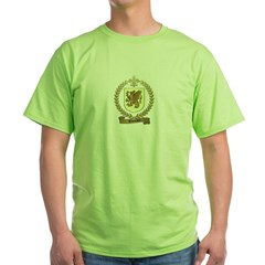 THERRIEN Family Crest Green T-Shirt