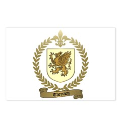 THERRIEN Family Crest Postcards (Package of 8)