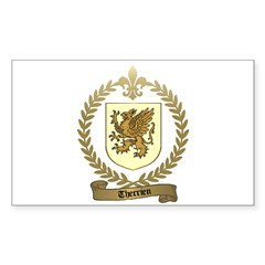 THERRIEN Family Crest Rectangle Decal