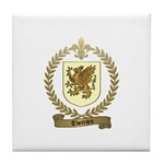 THERRIEN Family Crest Tile Coaster